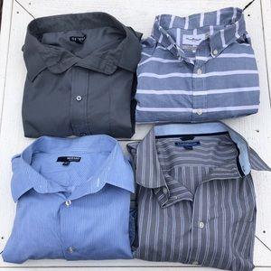 Men's Dress Shirt Bundle 4 Shirts Sz XXL